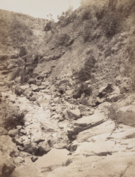 Dry bed of a rivulet, in the Ghauts [?near Khandala].